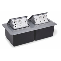 CAIXA DE MESA PRATIK C/ 4 TOMADAS 10A + 2 USB... - Telcabos Loja Online