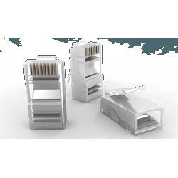 Pacote com 50 conectores macho rj-45 sohoplus... - Telcabos Loja Online