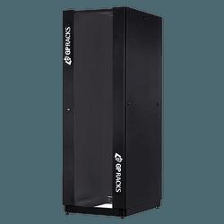 RACK FECHADO EASYFLEX 24UX600X600MM - PRETO - Telcabos Loja Online