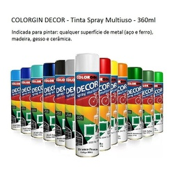 Tinta Spray COLORGIN DECOR - Marajá Tintas