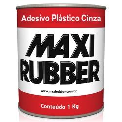 Adesivo Plástico Cinza 1Kg - Maxi Rubber - Marquezim Tintas