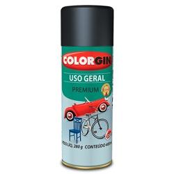 Spray Uso Geral Fosco 400ml Preto - Colorgin - Marquezim Tintas