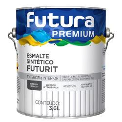 Esmalte Sintético Branco + Branco Brilhante 3,6L -... - Marquezim Tintas