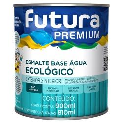 Esmalte Base Água Ecológico Premium Brilhante 0,9L... - Marquezim Tintas