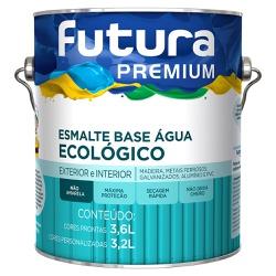 Esmalte Base Água Ecológico Premium Brilhante 3,6L... - Marquezim Tintas