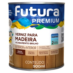 Verniz Marítimo para Madeira Brilhante 0,9L Incolo... - Marquezim Tintas