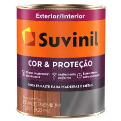 Esmalte Sintético Brilhante 0,9L - Suvinil Cor e P... - Marquezim Tintas