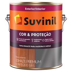 Esmalte Sintético Brilhante 3,6L - Suvinil Cor e P... - Marquezim Tintas