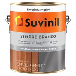 Esmalte Sintético Sempre Branco Acetinado 3,6L - S... - Marquezim Tintas