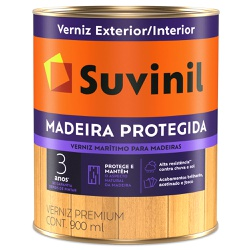 Verniz Madeira Protegida Acetinado 0,9L - Suvinil - Marquezim Tintas