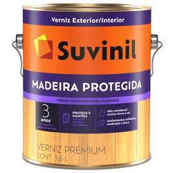 Verniz Madeira Protegida Acetinado 3,6L - Suvinil - Marquezim Tintas