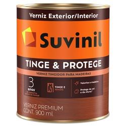 Verniz Tinge e Protege Brilhante 0,9L - Suvinil - Marquezim Tintas