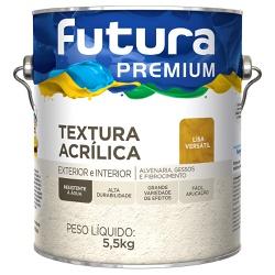 Textura Lisa Versátil Premium 5,5KG Branco - Futur... - Marquezim Tintas
