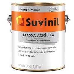 Massa Acrílica Premium 5,5Kg - Suvinil - Marquezim Tintas