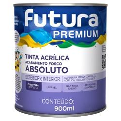 Tinta Acrílica Premium Absoluto Fosco 0,9L Branco ... - Marquezim Tintas
