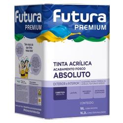 Tinta Acrílica Premium Absoluto Fosco 18L - Futura - Marquezim Tintas
