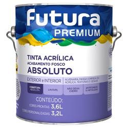 Tinta Acrílica Premium Absoluto Fosco 3,6L - Futur... - Marquezim Tintas