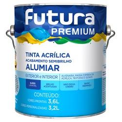 Tinta Acrílica Premium Alumiar Semibrilho 3,6L Bra... - Marquezim Tintas