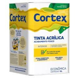 Tinta Acrílica Cortex Econômica Fosca 18L - Futura... - Marquezim Tintas
