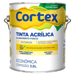 Tinta Acrílica Cortex Econômica Fosca 3,6L - Futur... - Marquezim Tintas