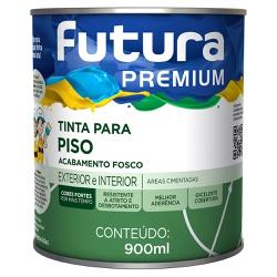 Tinta Premium para Piso Fosca 0,9L - Futura - Marquezim Tintas