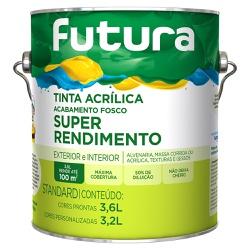 Tinta Acrílica Standard Fosca 3,6L - Futura - Marquezim Tintas