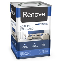 Tinta Acrílica Standard Fosco 18L Branco - Renove - Marquezim Tintas