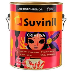 Tinta Acrílica Premium Fosca 3,6L - Suvinil Criati... - Marquezim Tintas