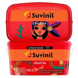 Tinta Acrílica Premium Fosca 5L - Suvinil Criativa - Marquezim Tintas