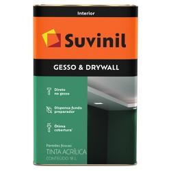 Tinta Látex Premium Gesso & Drywall Fosco 18L - Su... - Marquezim Tintas