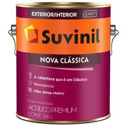 Tinta Acrílica Premium Fosco 3,6L - Suvinil Nova C... - Marquezim Tintas
