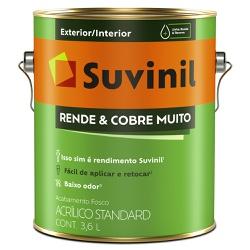Tinta Acrílica Standard Fosco 3,6L - Suvinil Rende... - Marquezim Tintas