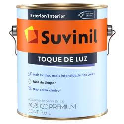 Tinta Acrílica Premium Semi Brilho 3,6L Branco - S... - Marquezim Tintas