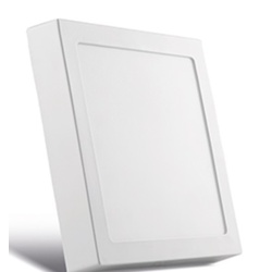 Painel Sobrepor LED Quadrado Branco 17X17CM 12W BI... - Meta Materiais Elétricos Ltda