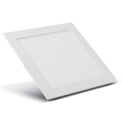 Painel Embutir LED Quadrado Branco 12W 17x17Cm Biv... - Meta Materiais Elétricos Ltda