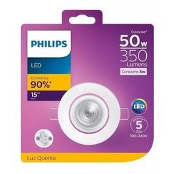 Spot LED Redondo Branco 5W Bivolt 2700K (Luz Amare... - Meta Materiais Elétricos Ltda