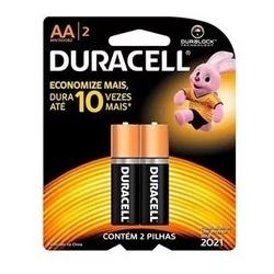 Pilha AA Pequena Alcalina Duracell- Cartela c/2 - Meta Materiais Elétricos Ltda