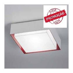 Plafonier Branco com Vermelho 25 Cm TY-250 100/2 p... - Meta Materiais Elétricos Ltda
