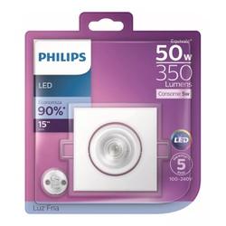 Spot LED Embutir Quadrado Branco 5W 6500K Bivolt (... - Meta Materiais Elétricos Ltda