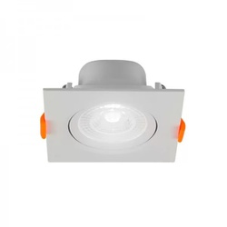 Spot Led Slim Embutir Quadrado 6W Bivolt 6500K - B... - Meta Materiais Elétricos Ltda