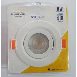 Spot Led Slim Redondo 6W Bivolt 3000K - BLUMENAU - Meta Materiais Elétricos Ltda