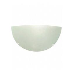 Arandela Jurerê Branca 30Cm Vidro Fosco p/1 Lâmpad... - Meta Materiais Elétricos Ltda
