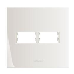 Placa 4x4 2 Módulos c/ Suporte 85004 - Inova Pró - Meta Materiais Elétricos Ltda