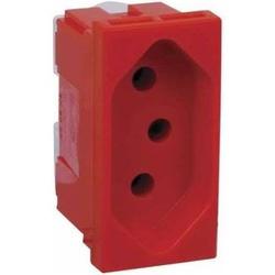 Tomada 2P+T Vermelha 593732 - ARTEOR - Meta Materiais Elétricos Ltda