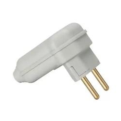 Plugue desmontável 2P 90º de 10A com prensa cabos ... - Meta Materiais Elétricos Ltda