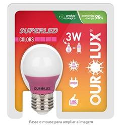 Lâmpada Superled S30 Colors 3W Bivolt ROSA 05430 -... - Meta Materiais Elétricos Ltda