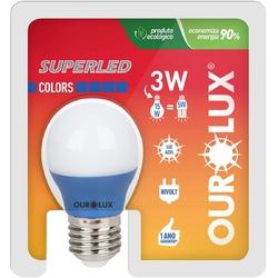 Lâmpada Superled S30 Colors 3W Bivolt AZUL 05432 -... - Meta Materiais Elétricos Ltda