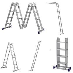Escada Articulada 4 x 4 em Alumínio 16 Degraus - Botafogo Lar&Lazer