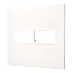 Placa 4x4 2mod Pial Plus+ Branca 618511BC - Pial P... - Meta Materiais Elétricos Ltda