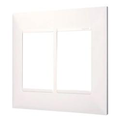 Placa 4x4 2+2 Postos Separados Branca- 618514BC-Pi... - Meta Materiais Elétricos Ltda